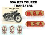 BSA B23 Tourer Transfer Decal Set DBSA 191